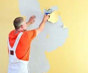 muur schilderen kaal maken